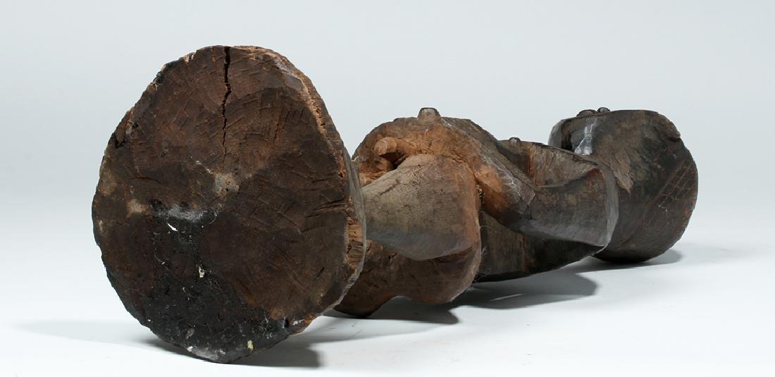 Early 20th C. African Kuba Wood Standing Male Figure - 6