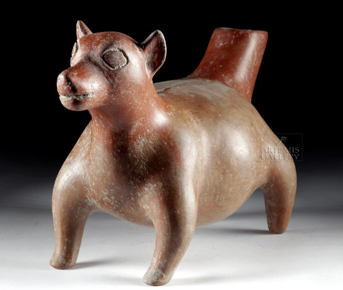 Huge Colima Redware Dog Effigy Vessel - 2