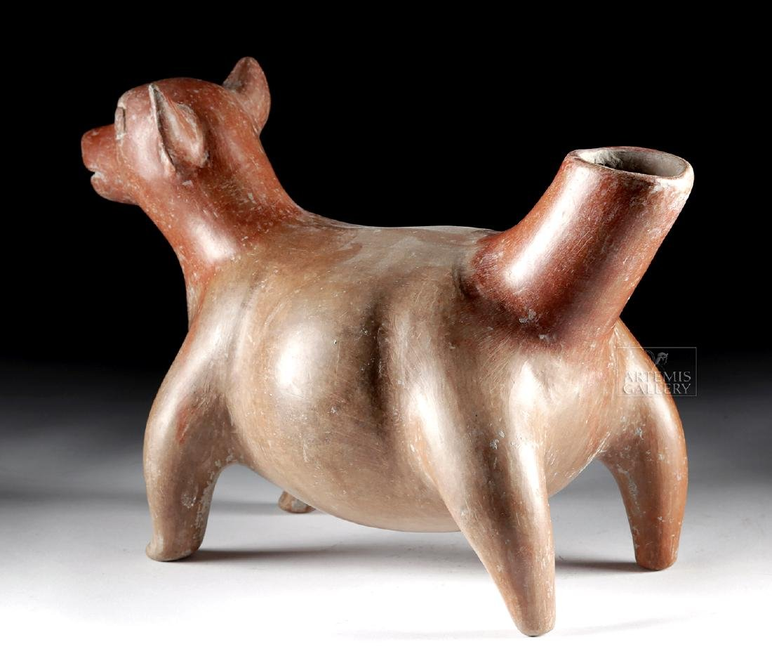 Huge Colima Redware Dog Effigy Vessel - 4