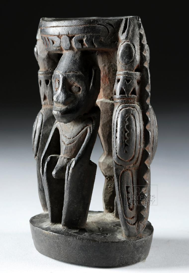 Mid-20th C. Papua New Guinea Wood Betel Nut Mortar - 3