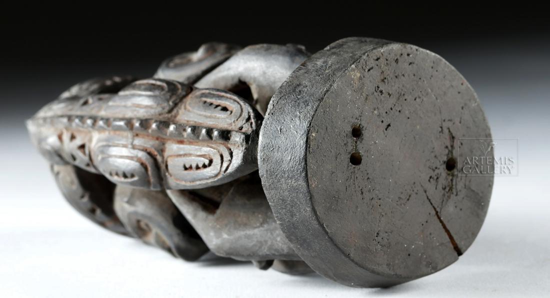 Mid-20th C. Papua New Guinea Wood Betel Nut Mortar - 6