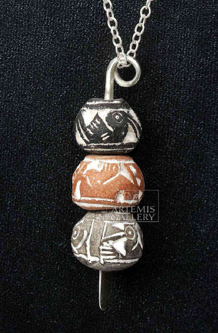 Ecuadorian Spindle Whorl Drop Necklace