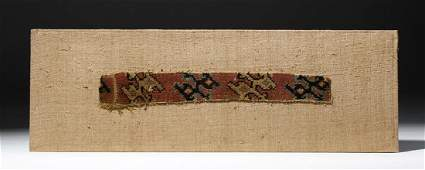 Chancay Textile Strap with Running Animals