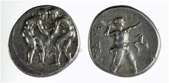 Greek Pamphylia Aspendos Silver Stater Coin  107 g