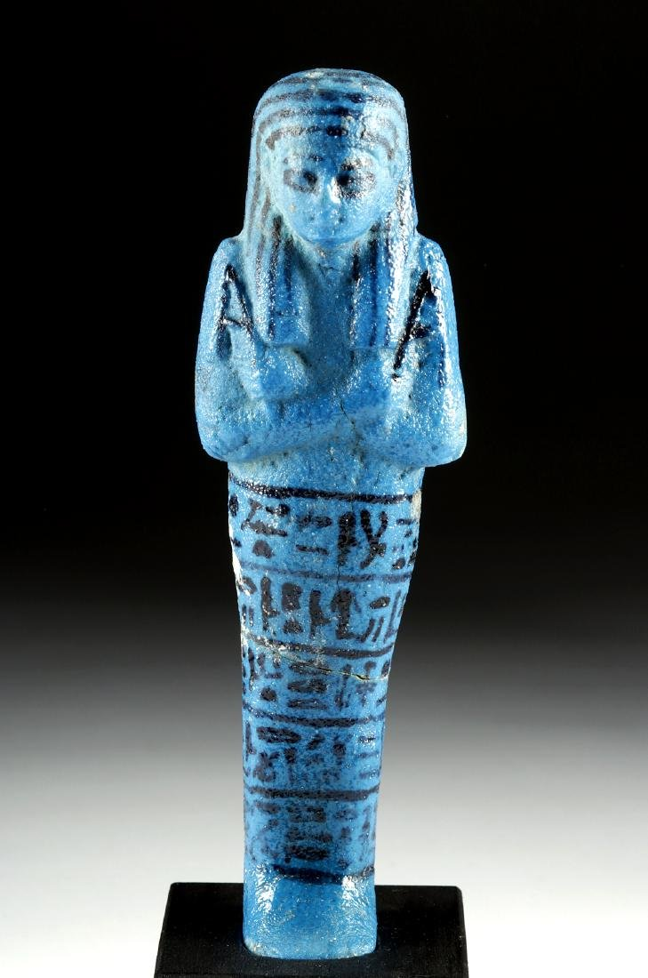 Translated Egyptian Faience Ushabti w/ TL - Nesykhonsu