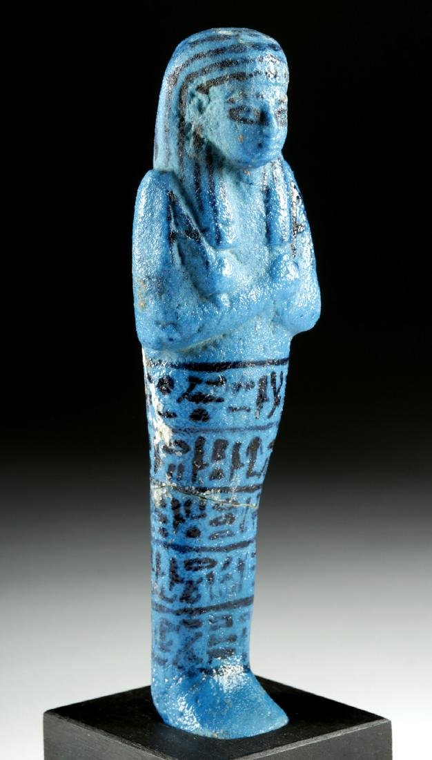 Translated Egyptian Faience Ushabti w/ TL - Nesykhonsu - 2