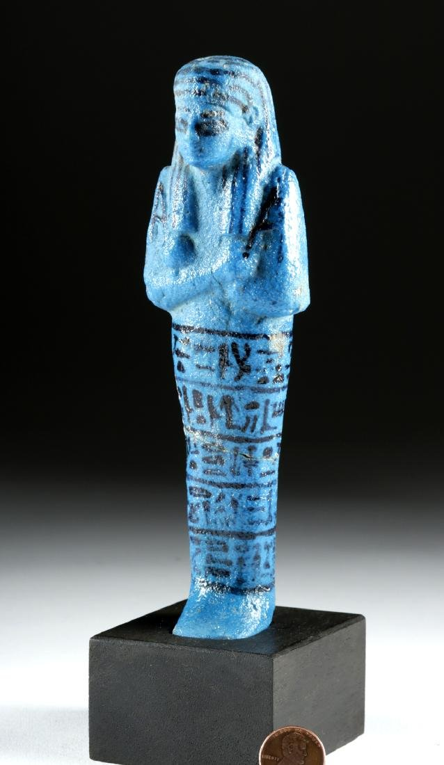 Translated Egyptian Faience Ushabti w/ TL - Nesykhonsu - 3