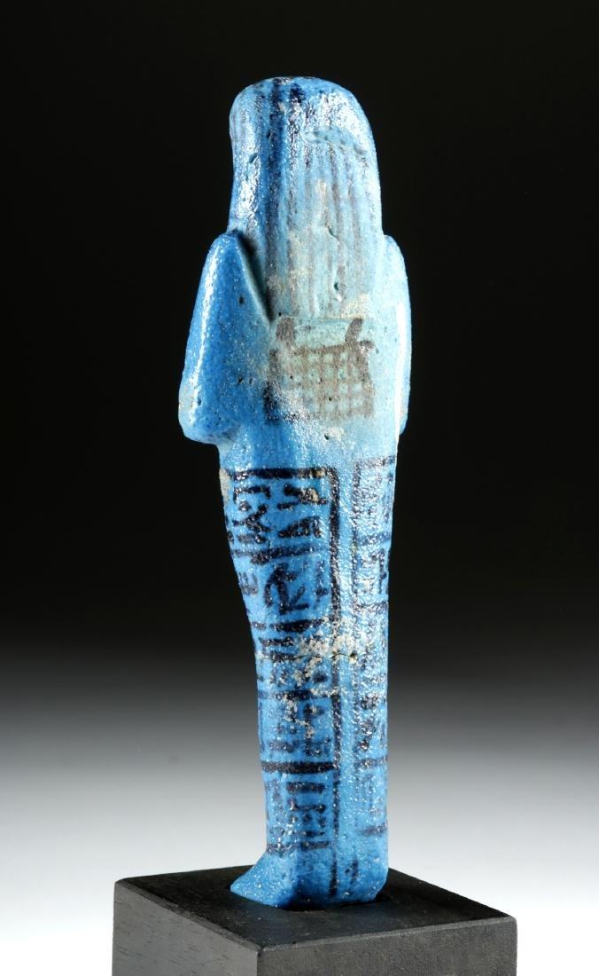 Translated Egyptian Faience Ushabti w/ TL - Nesykhonsu - 4