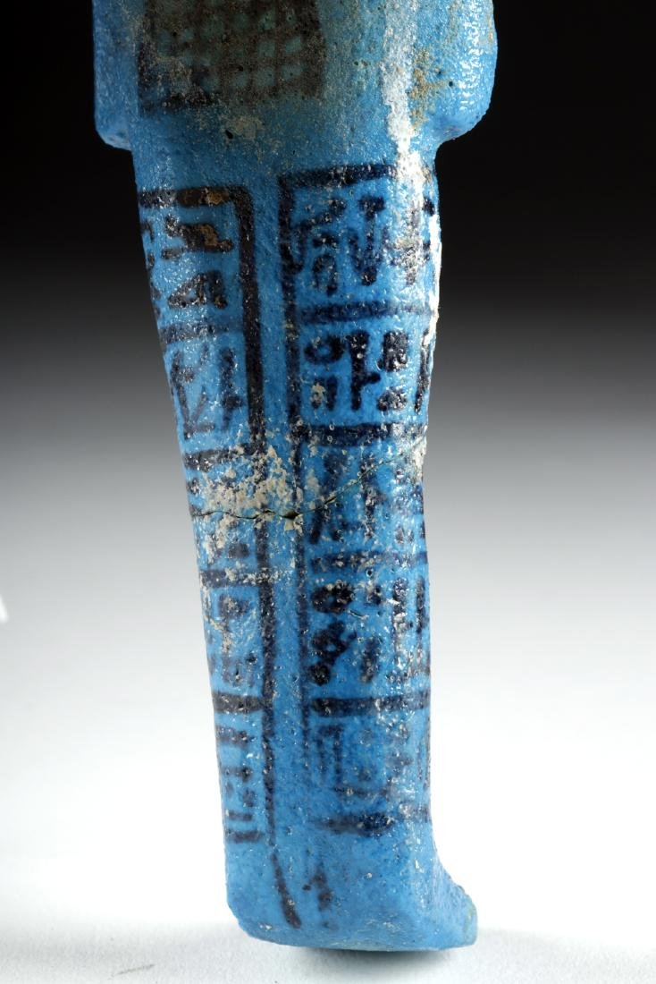 Translated Egyptian Faience Ushabti w/ TL - Nesykhonsu - 5