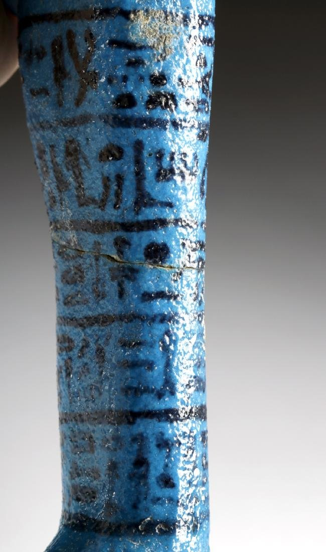 Translated Egyptian Faience Ushabti w/ TL - Nesykhonsu - 8