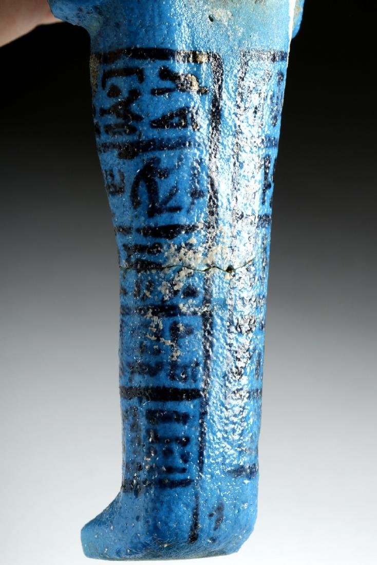 Translated Egyptian Faience Ushabti w/ TL - Nesykhonsu - 9