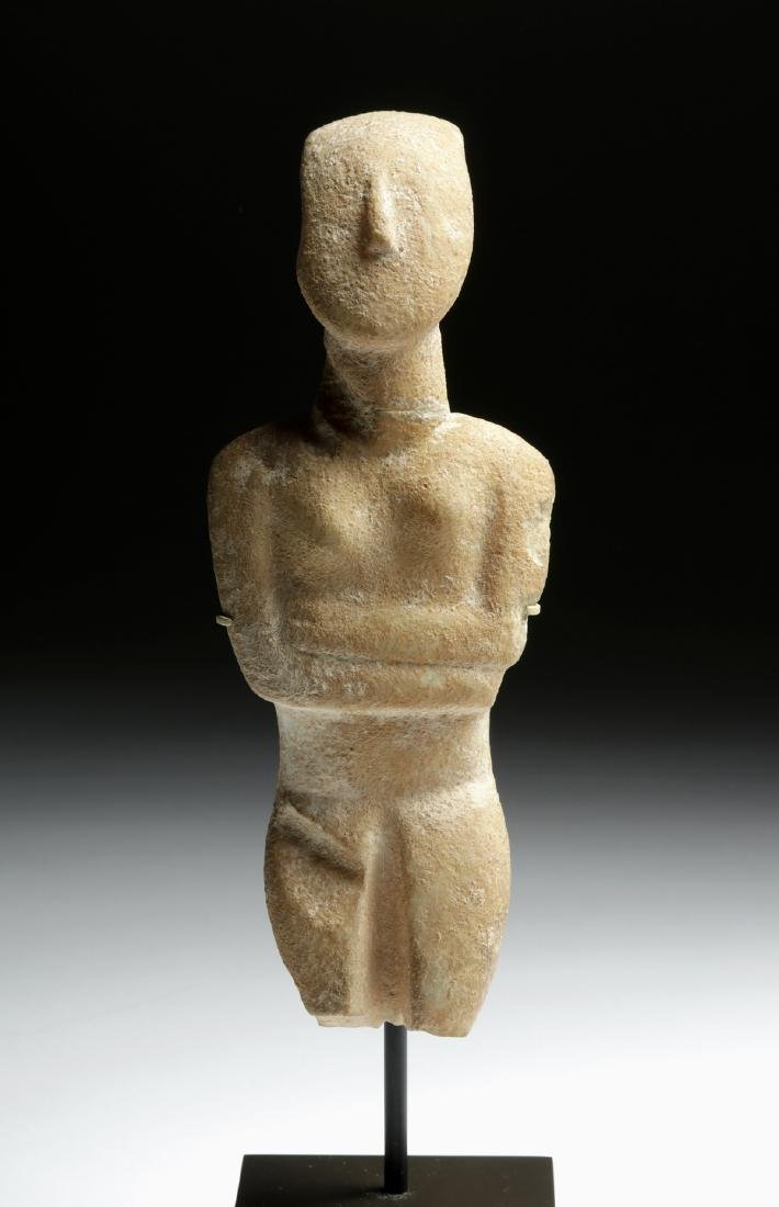 Cycladic Marble Female Figure, Early Spedos Variety