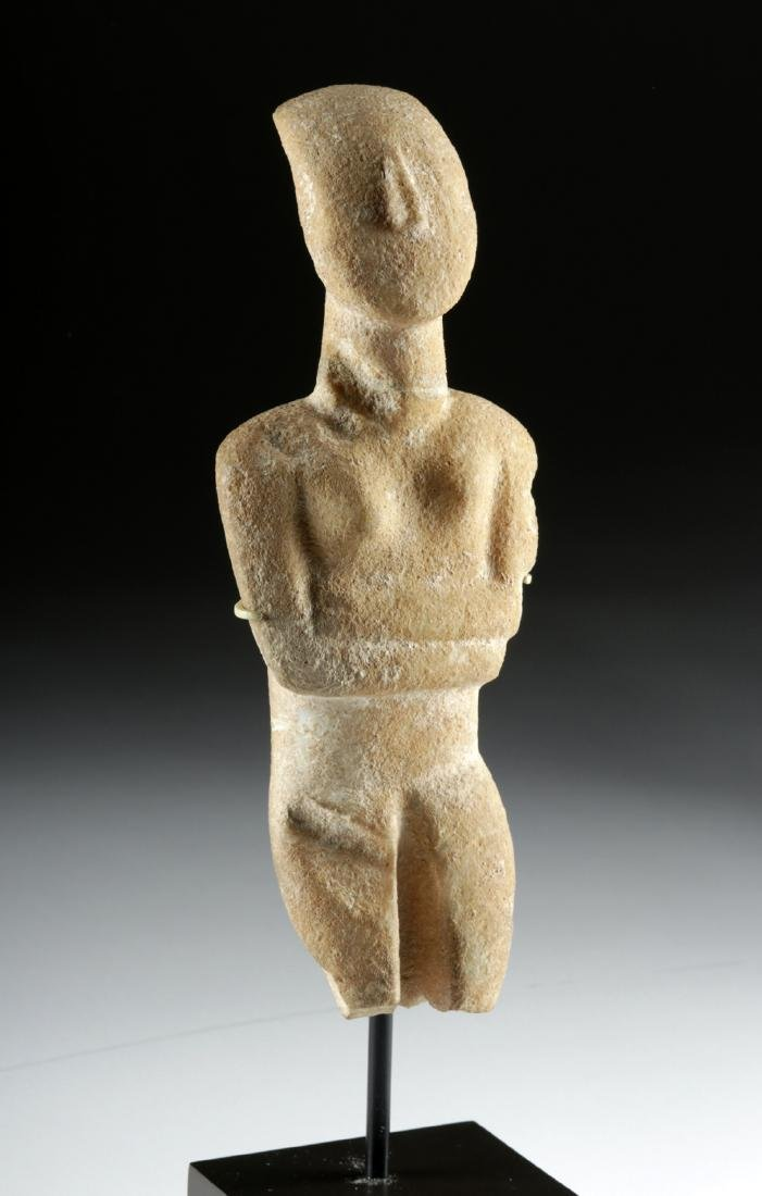 Cycladic Marble Female Figure, Early Spedos Variety - 2