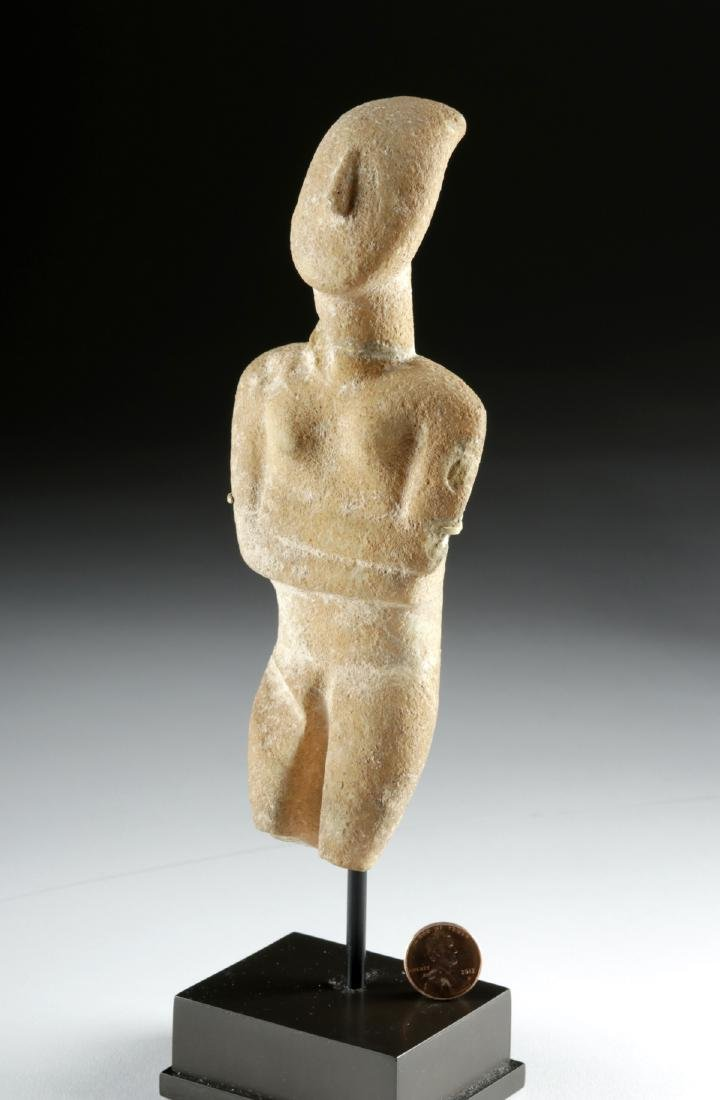 Cycladic Marble Female Figure, Early Spedos Variety - 3