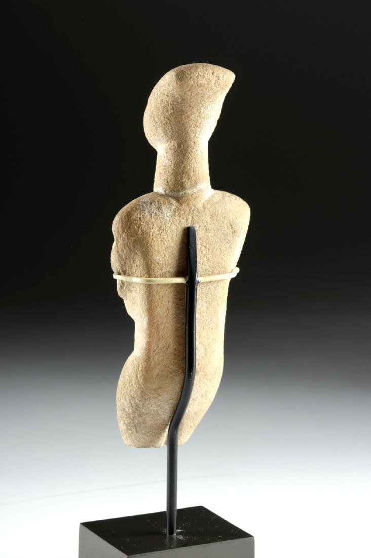 Cycladic Marble Female Figure, Early Spedos Variety - 4