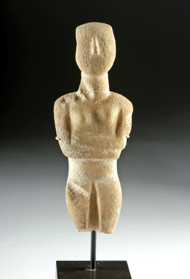 Cycladic Marble Female Figure, Early Spedos Variety - 5
