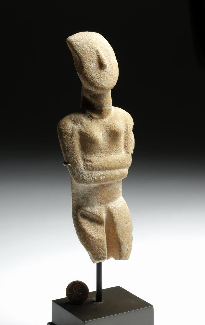 Cycladic Marble Female Figure, Early Spedos Variety - 6