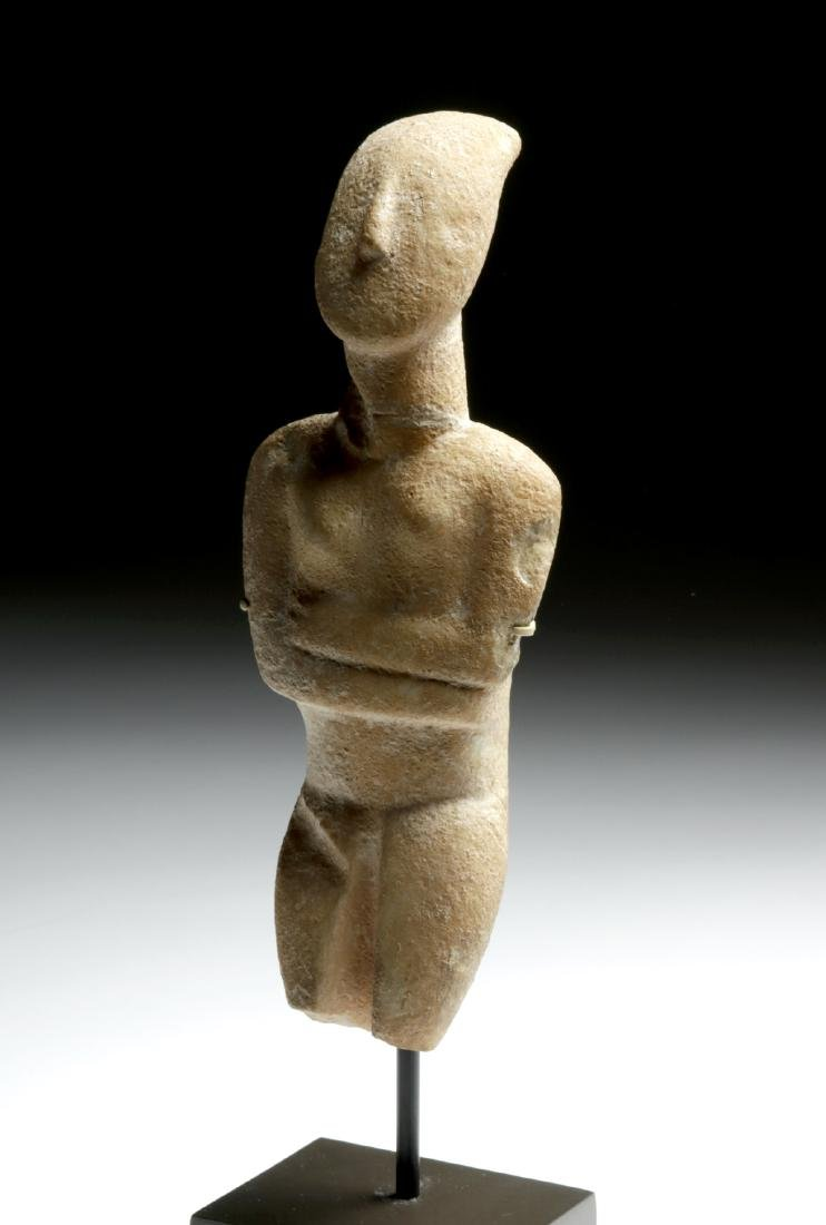 Cycladic Marble Female Figure, Early Spedos Variety - 7