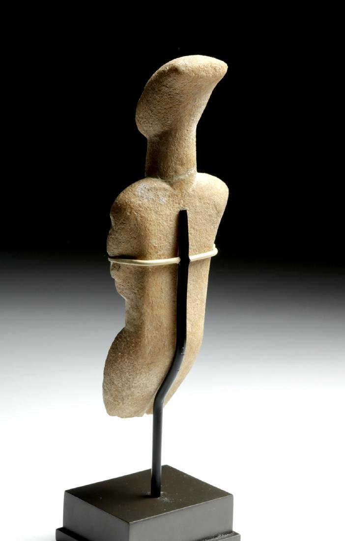 Cycladic Marble Female Figure, Early Spedos Variety - 8