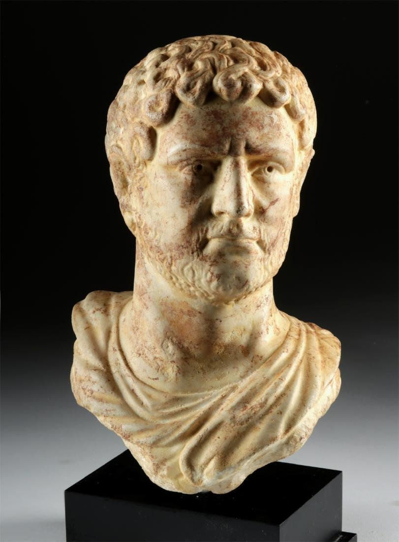 Impressive Roman Marble Bust of Caracalla