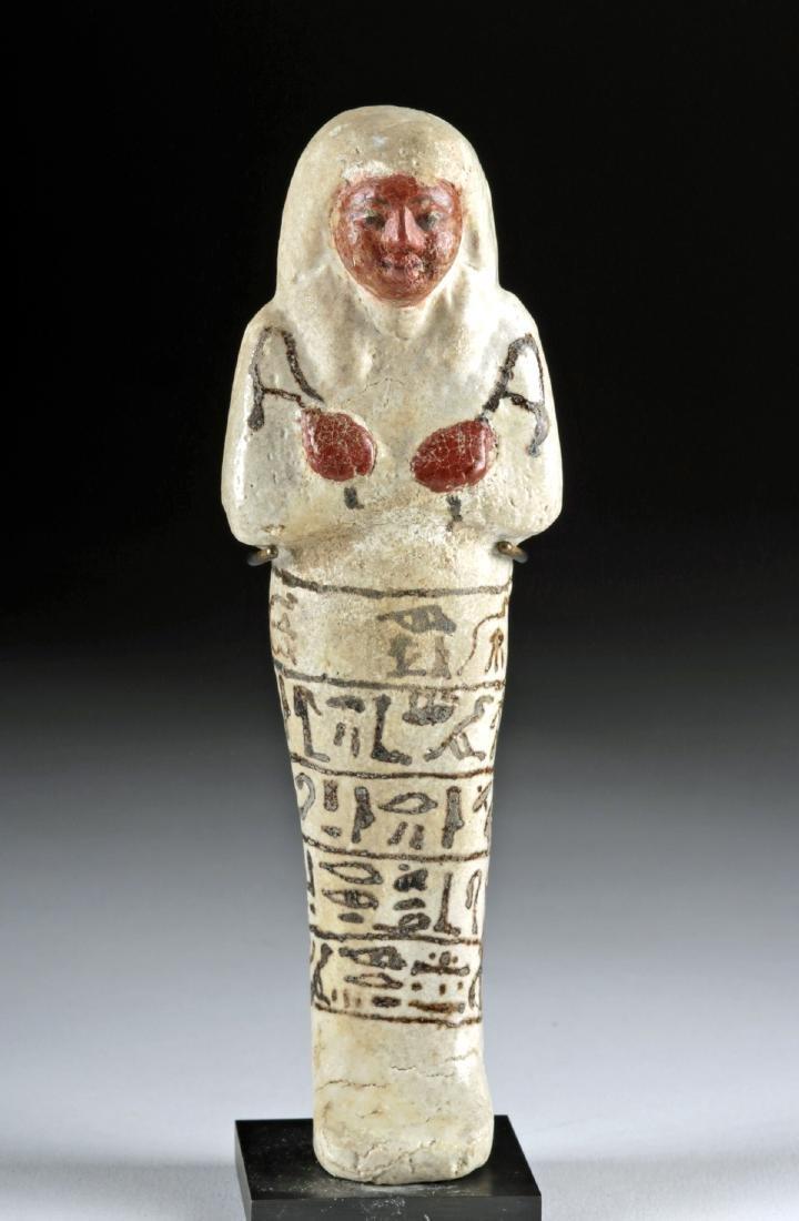 Fine Egyptian New Kingdom Glazed Faience Ushabti - 2