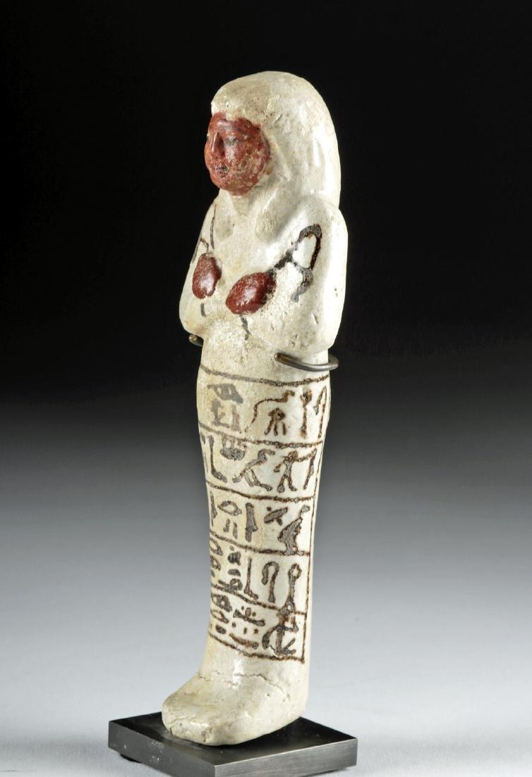 Fine Egyptian New Kingdom Glazed Faience Ushabti - 3