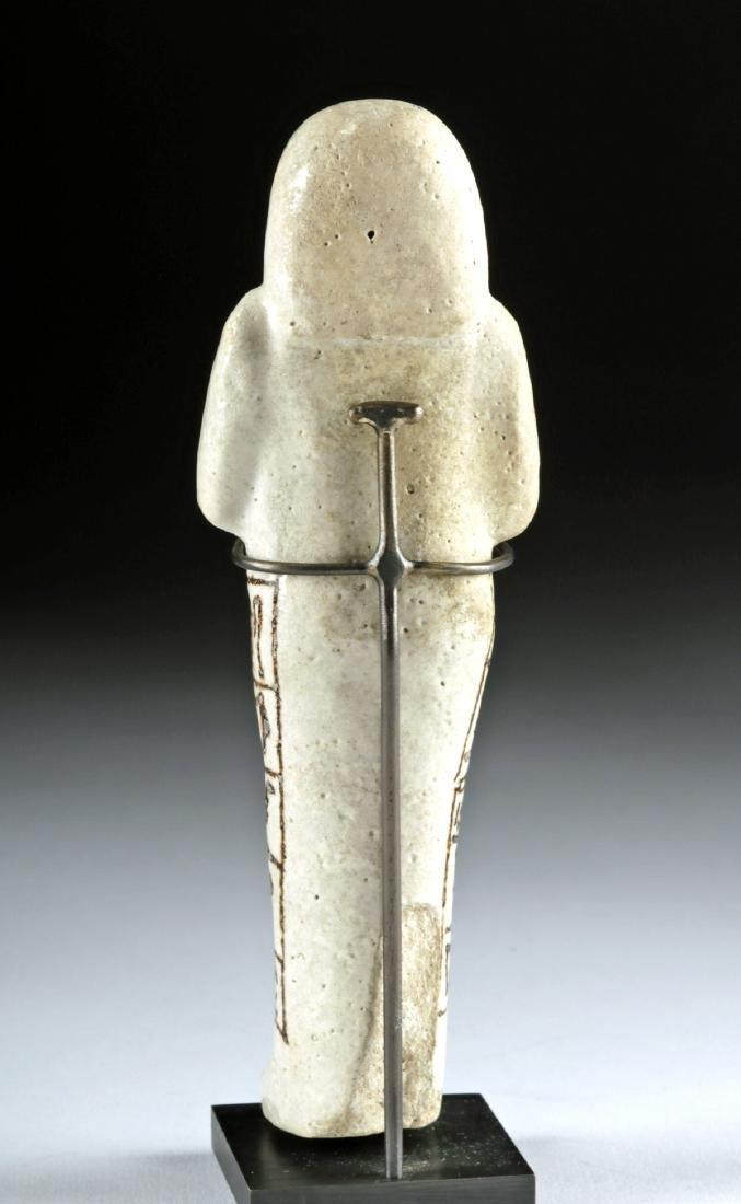 Fine Egyptian New Kingdom Glazed Faience Ushabti - 4