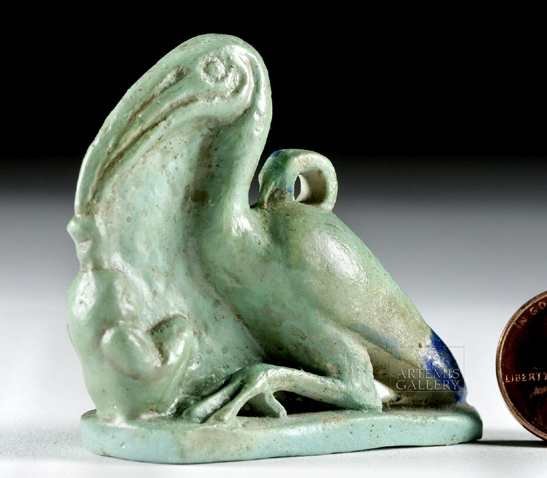 Egyptian Faience Amulet - Ibis w/ Maat
