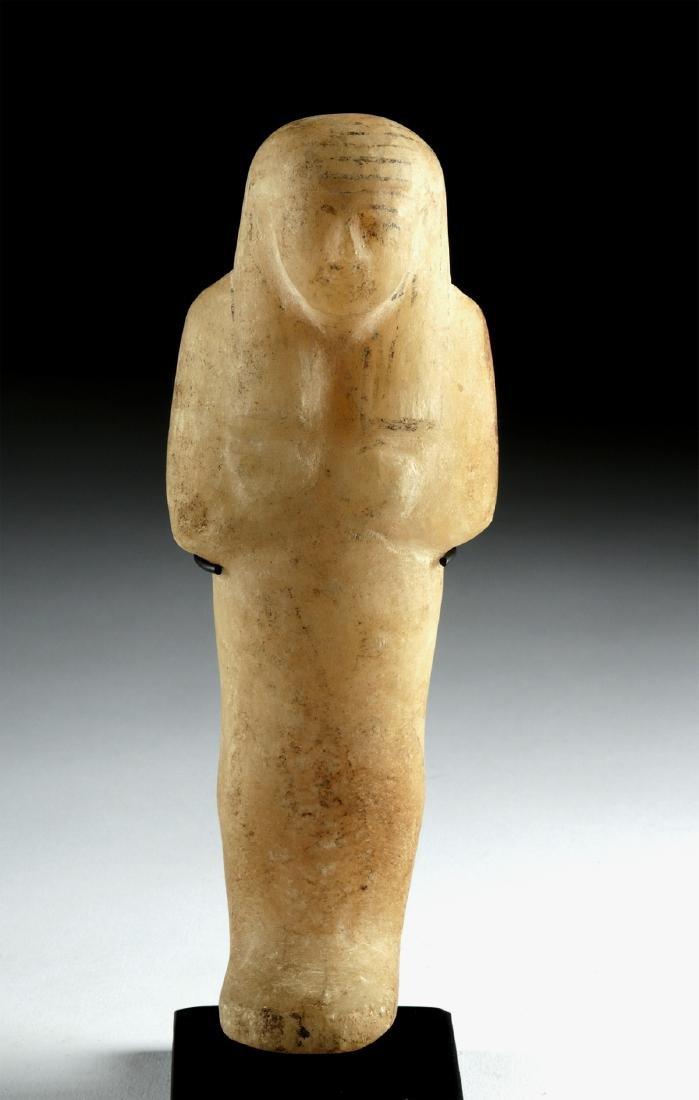 Egyptian Third Intermediate Alabaster Ushabti