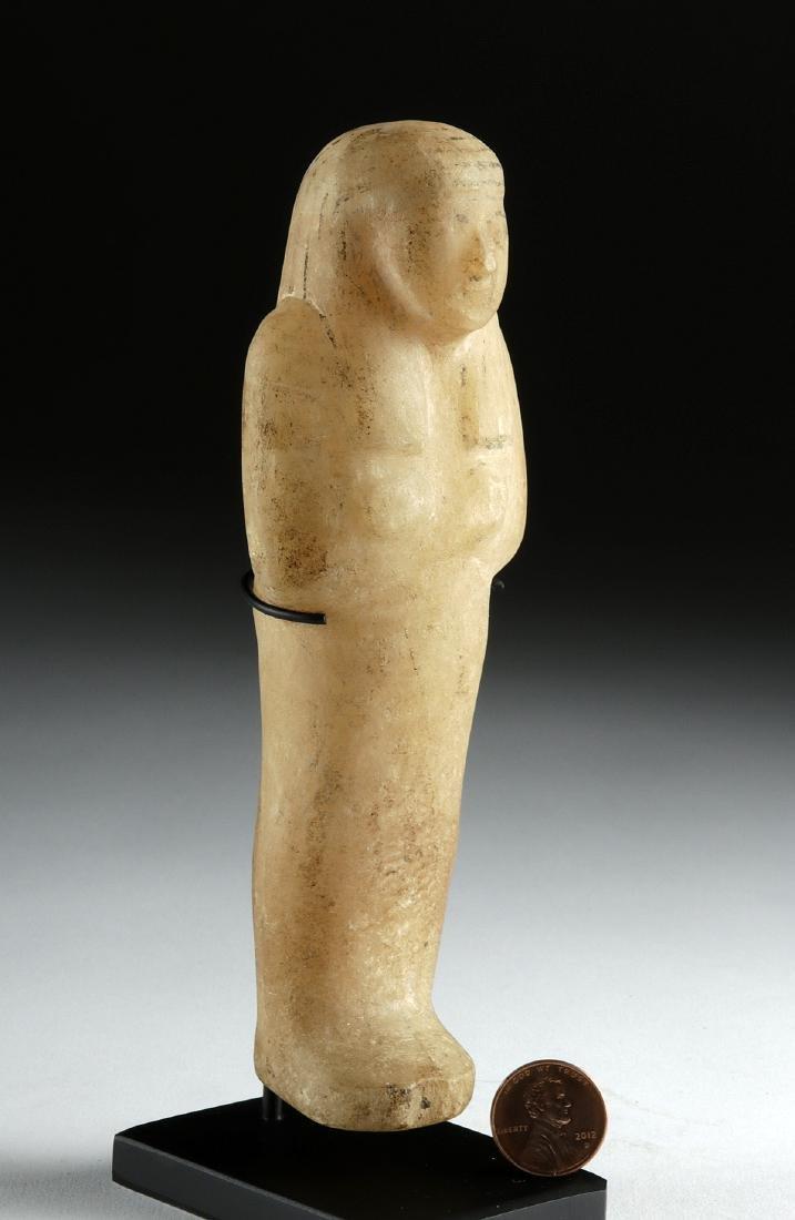 Egyptian Third Intermediate Alabaster Ushabti - 2