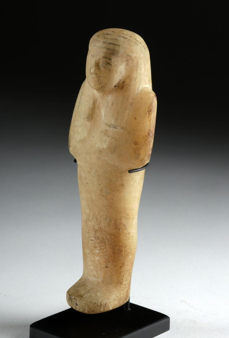 Egyptian Third Intermediate Alabaster Ushabti - 3