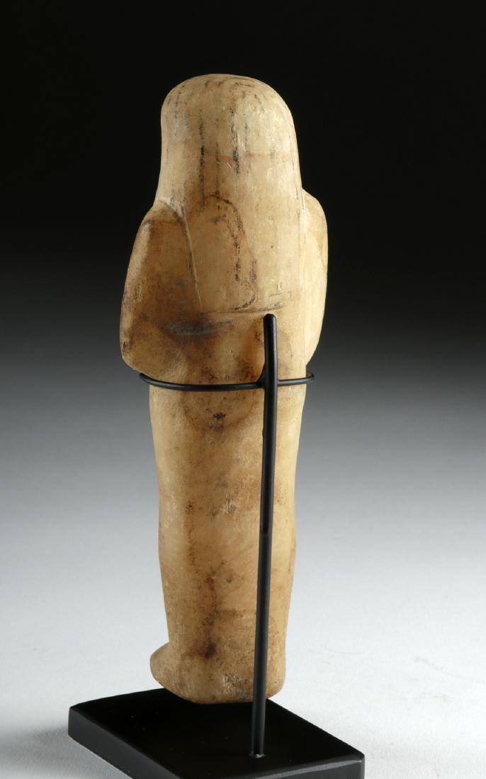 Egyptian Third Intermediate Alabaster Ushabti - 4