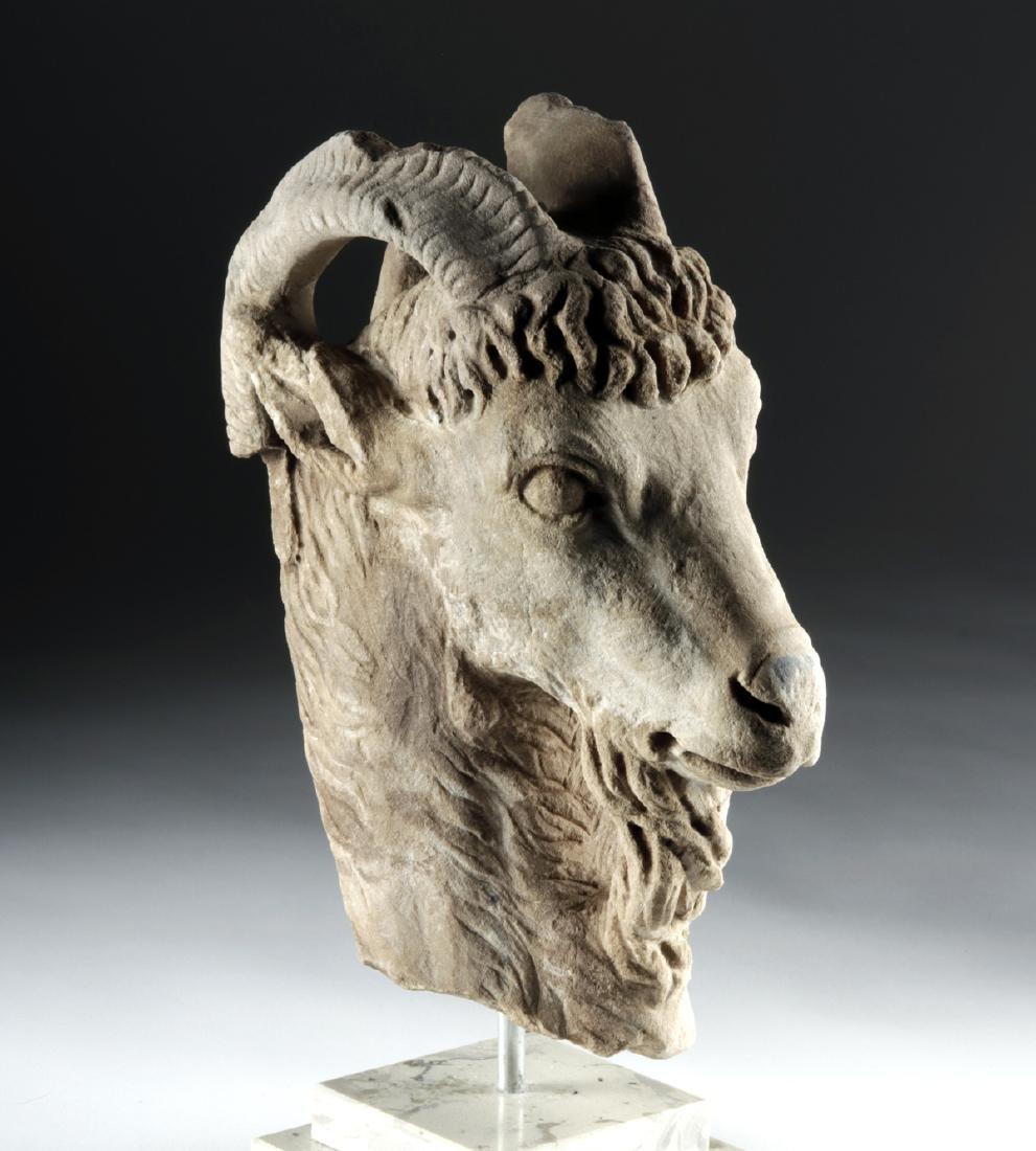 Incredible Roman Marble Goat Head
