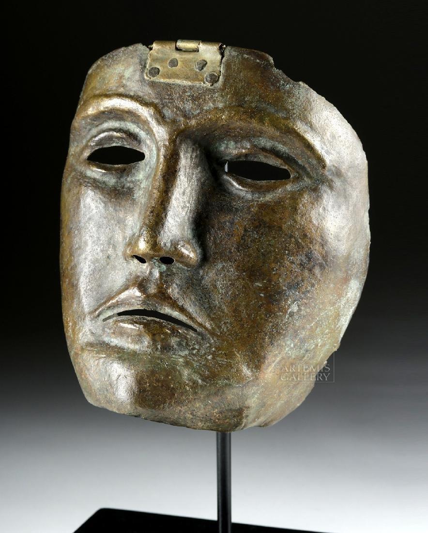 Rare Roman Bronze Parade Mask of a Cavalry Officer