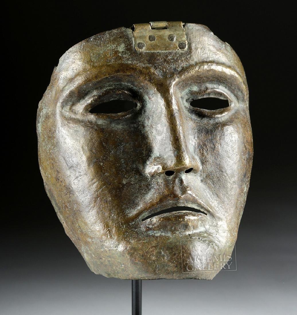 Rare Roman Bronze Parade Mask of a Cavalry Officer - 2