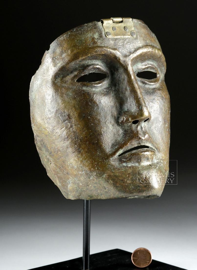 Rare Roman Bronze Parade Mask of a Cavalry Officer - 3