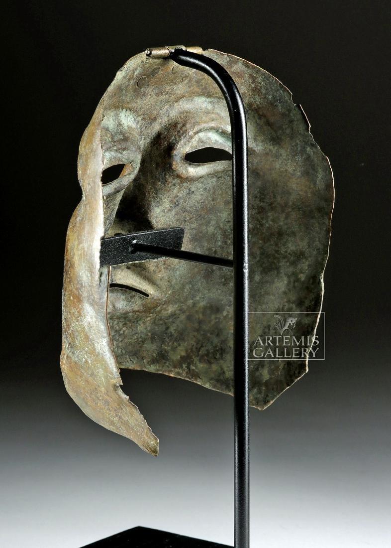 Rare Roman Bronze Parade Mask of a Cavalry Officer - 4