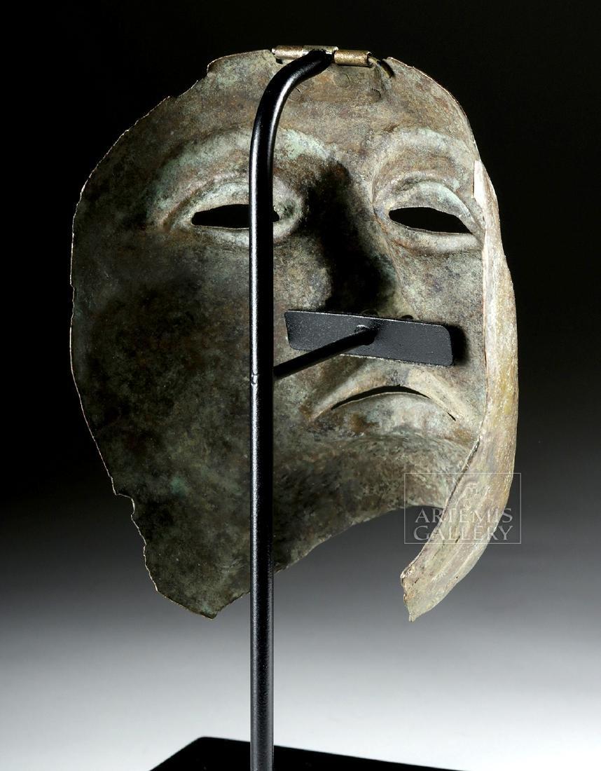 Rare Roman Bronze Parade Mask of a Cavalry Officer - 5