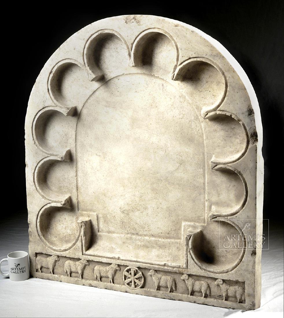 Enormous Early Byzantine Marble Liturgical Table