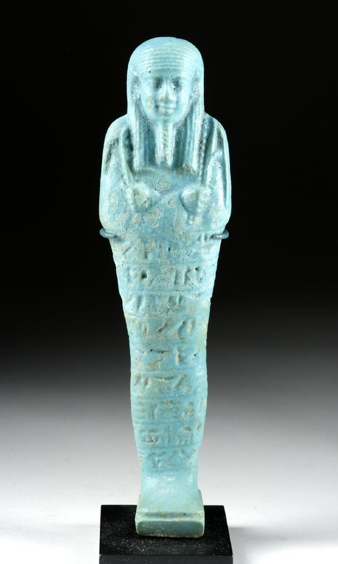 Large Detailed Egyptian Faience Ushabti