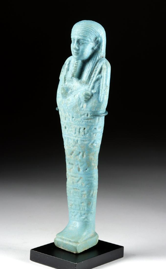 Large Detailed Egyptian Faience Ushabti - 2