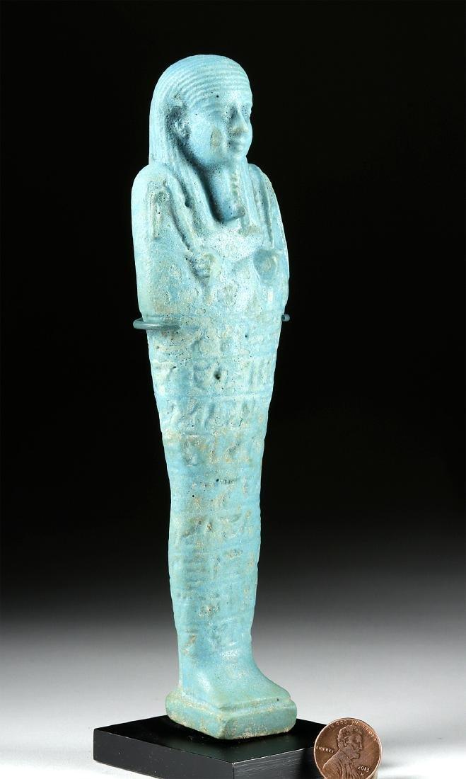 Large Detailed Egyptian Faience Ushabti - 3