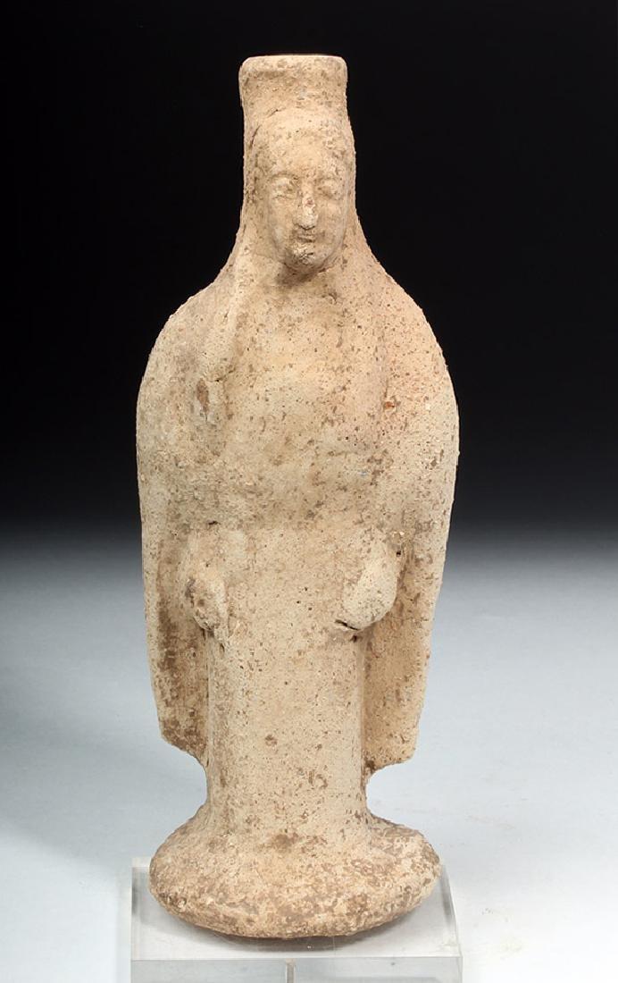 Western Greek Earthenware Standing Kore - Woman