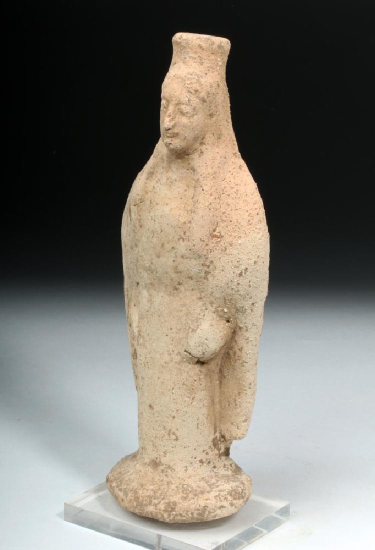 Western Greek Earthenware Standing Kore - Woman - 2