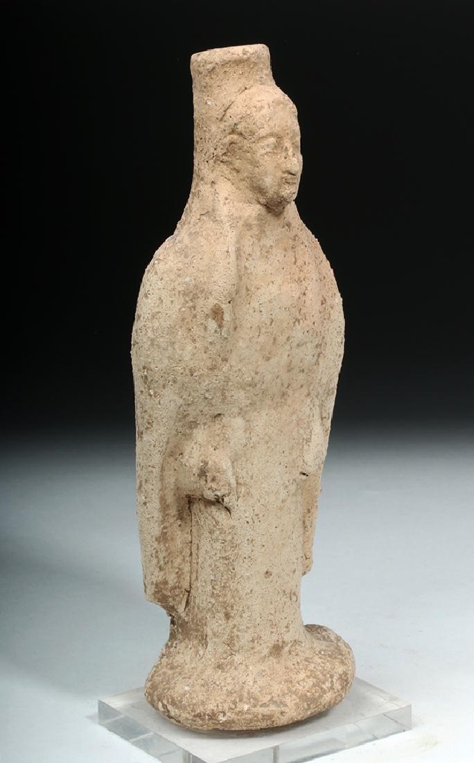 Western Greek Earthenware Standing Kore - Woman - 5