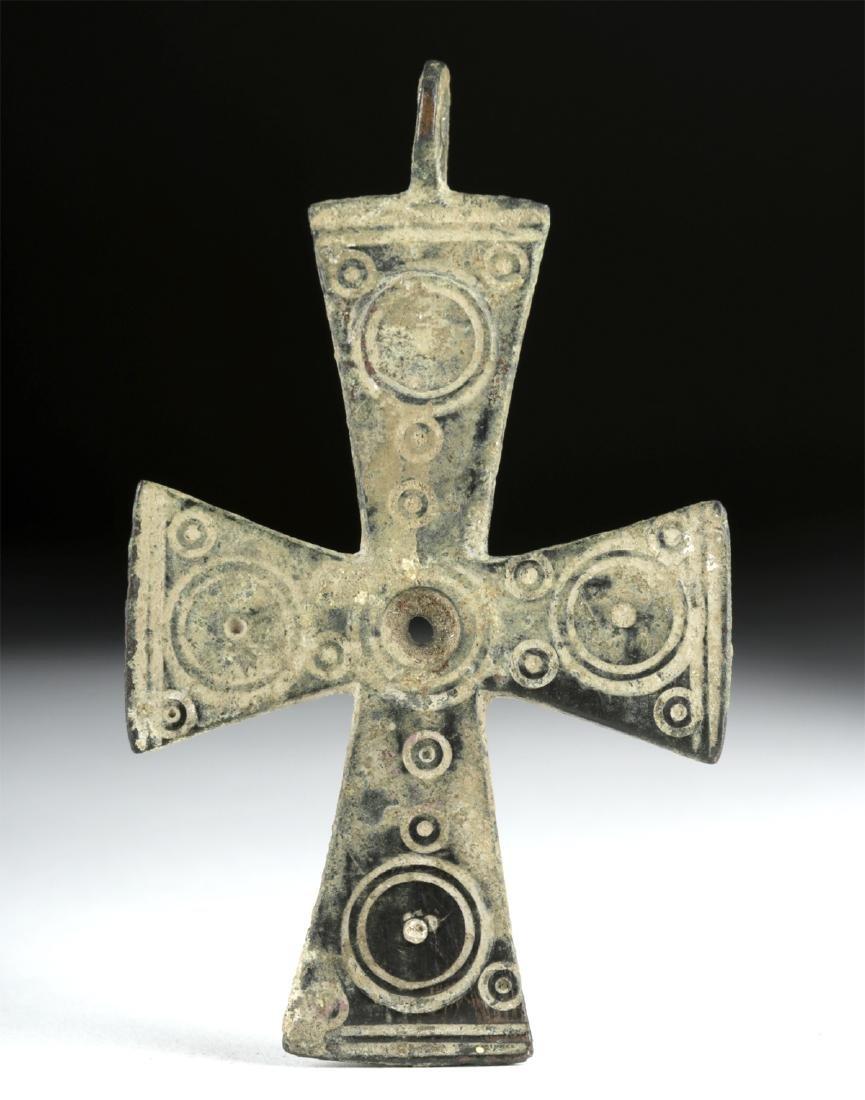 Large Byzantine Bronze Cross