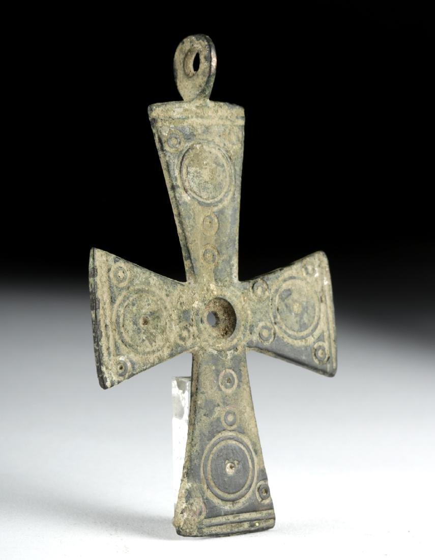 Large Byzantine Bronze Cross - 2