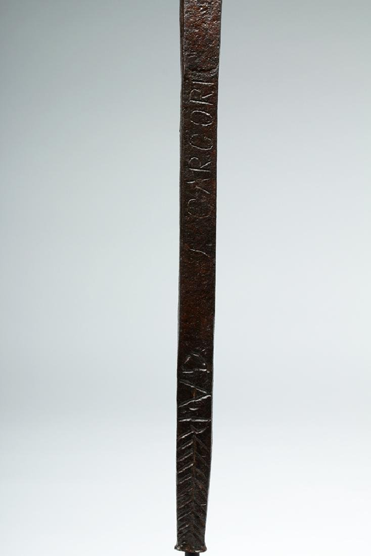 18th C. European Iron Cross Agricultural Tool - Stamped - 6