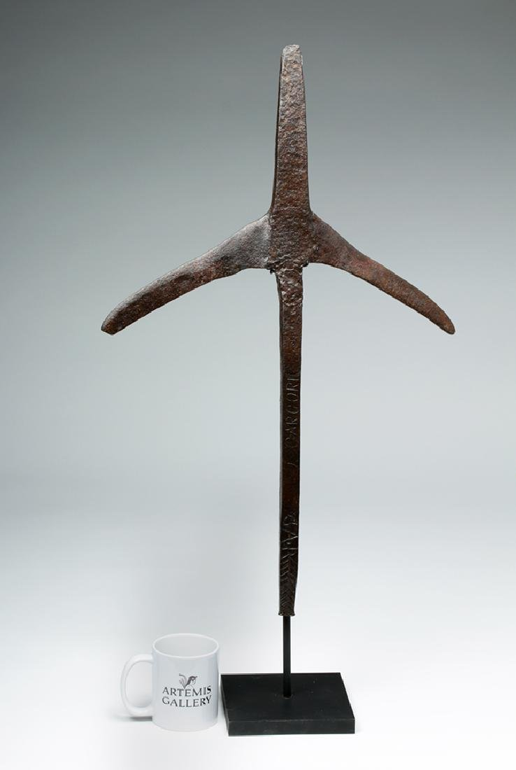 18th C. European Iron Cross Agricultural Tool - Stamped - 7