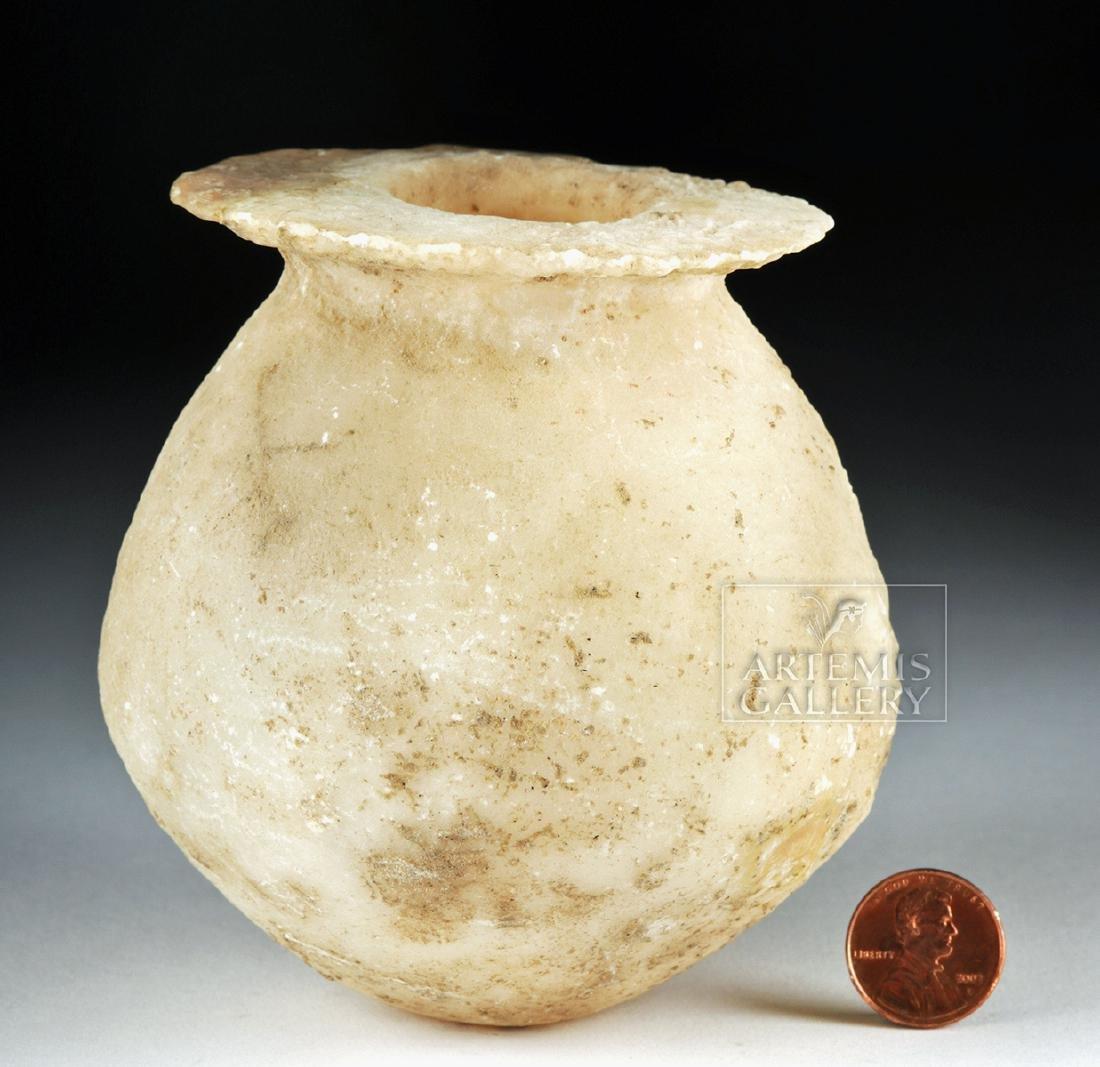 Bactrian / BMAC Globular Alabaster  Jar - 5